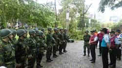 中和四號公園路樹倒滿地  軍方協助清除