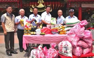 濟弱勢家庭 將軍廟捐民生物資給草屯食物銀行
