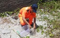路見椰子蟹受困 海巡拔剪刀相助