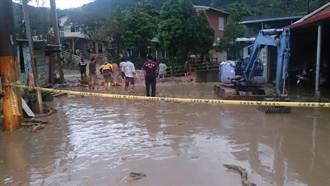 復興嘎色鬧部落土石流 緊急撤離39居民