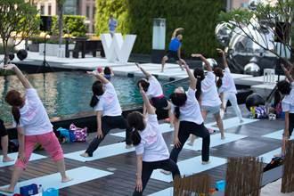 台北W飯店池畔瑜珈派對 做瑜珈、獻公益