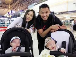 熊貓家族出門大陣仗 戰鬥嬰兒車堆起來竟比黑人高