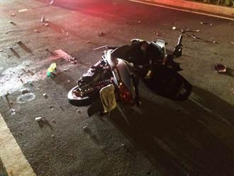 離奇機車對撞車禍釀1死 兩騎士皆遮掩車牌