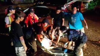 女子休旅車內吞藥自殺 警消破門救出