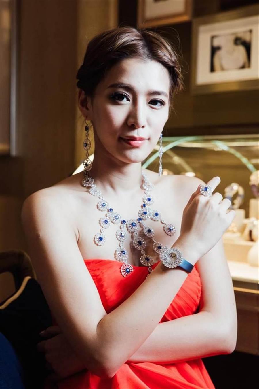 王思平8日出席蕭邦頂級珠寶活動。(郭吉銓攝)