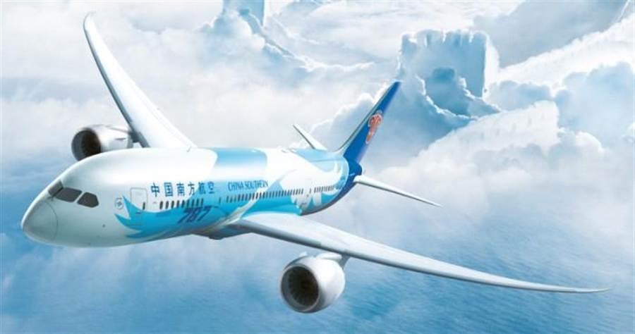南航飛基督城的B787客機。圖:業者提供