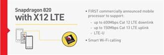 高通宣佈Snapdragon 820處理器連網功能大躍進