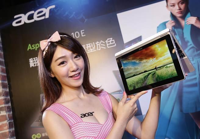 宏碁Acer Aspire Switch系列二合一筆電,在全球多個市場奪下銷售量第一寶座。(宏碁提供)