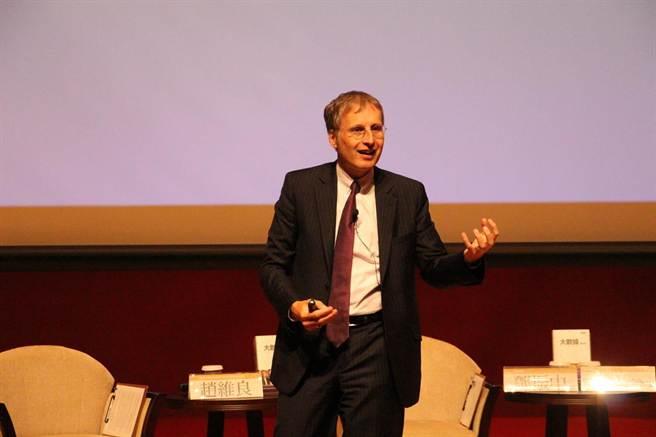 全球大數據權威麥爾荀伯格(Viktor Mayer-Schonberger)。(陳碧芬攝)