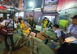 接球意外 中信兄弟蔣智賢、周聖訓不幸相撞