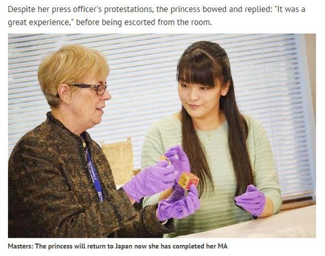 真子公主(右)在英國低調求學了1年。(翻攝自《鏡報》)