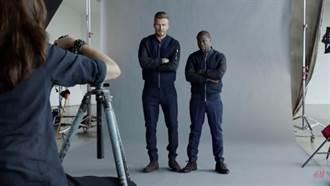 級與級的挑戰!H&M最新廣告中 凱文哈特企圖變身為貝克漢