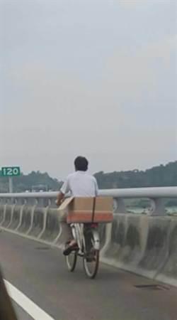 越籍男不熟路況 騎單車誤闖國道