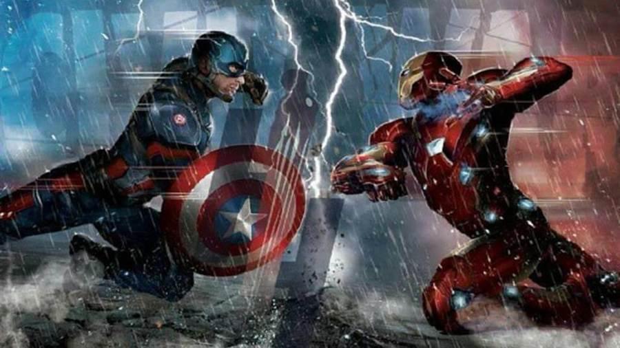 美國隊長即將對決鋼鐵人(圖/漫威影業《美國隊長3:英雄內戰》概念圖)