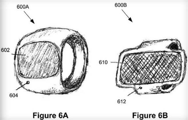 近日曝光的蘋果智慧戒指專利文件。(取自The Verge)