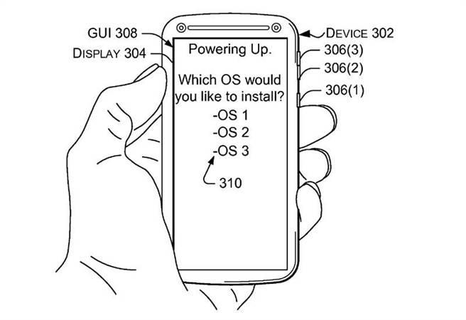 微軟遞交的專利申請文件透露他們計畫讓Windows手機執行雙系統的計畫。(圖/softpedia)