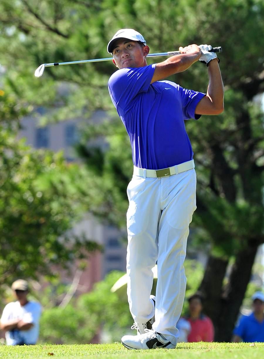 2015台灣名人賽暨第29屆三商杯高爾夫邀請賽最後一輪賽程4日在台灣高爾夫俱樂部球場舉行,台灣選手潘政琮以292桿並列12名。(劉宗龍攝)