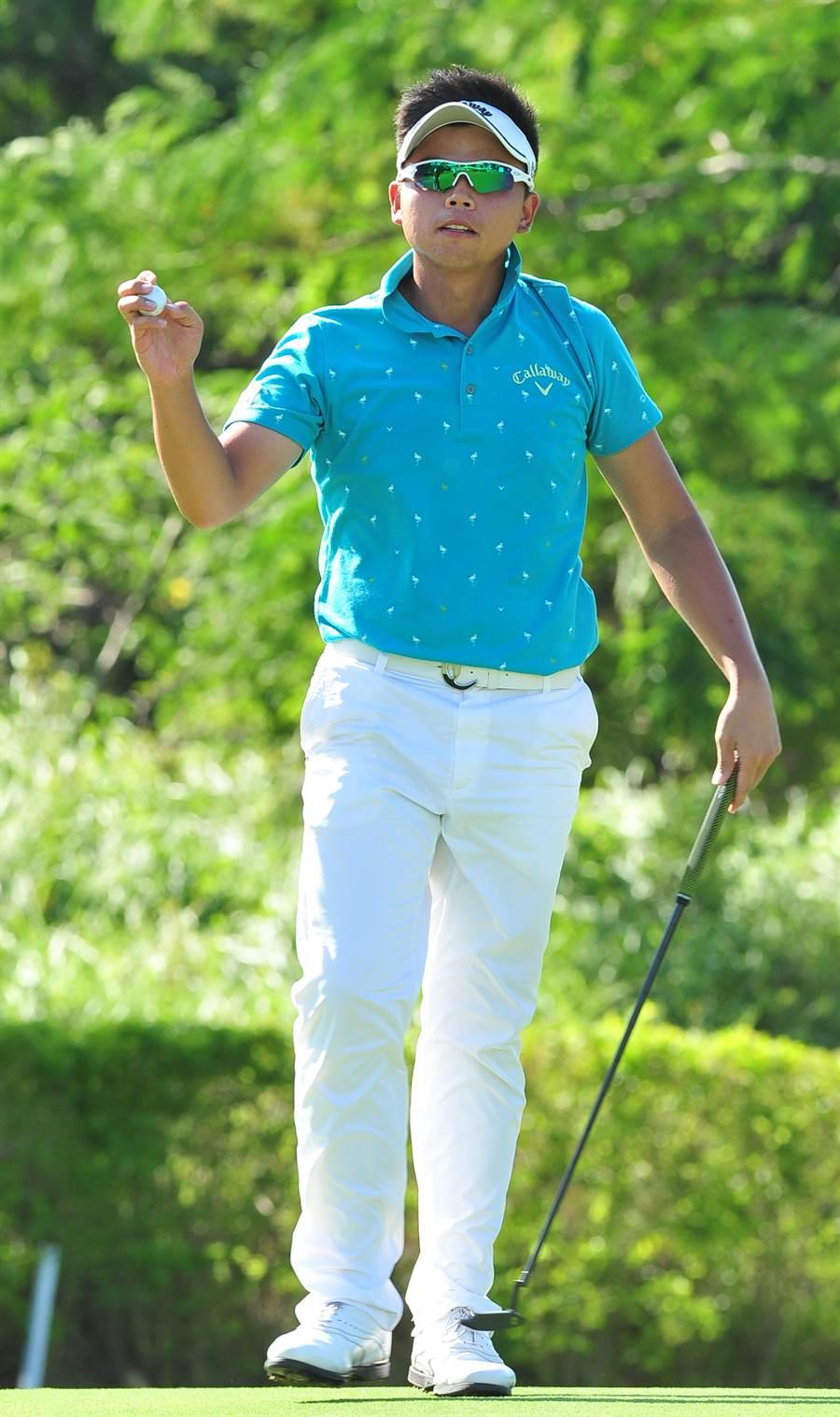 洪健堯以排名最佳台灣選手作收,希望25歲之前有機會赴美征戰。(劉宗龍攝)
