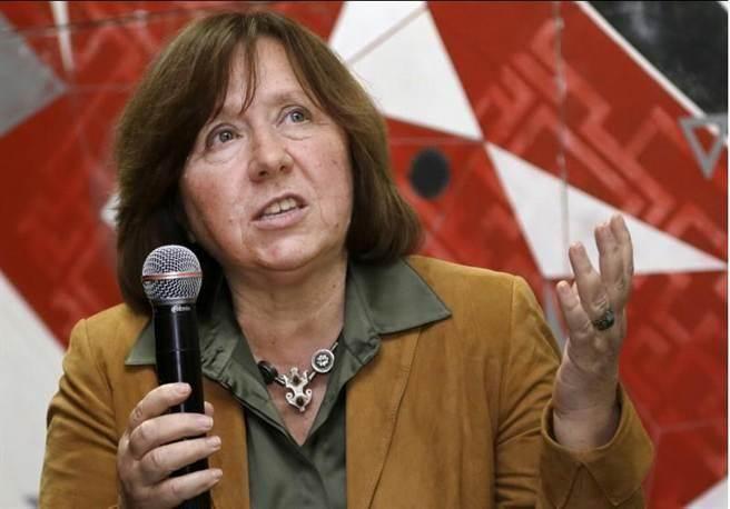 2015諾貝爾文學獎,由白俄羅斯女作家斯維拉娜·亞歷塞維奇(Svetlana Alexievich)奪得。(美聯社)