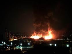 高雄凱旋世貿展館凌晨大火  無人傷亡