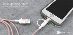 亞果元素PeAk Cable充電傳輸線 玫瑰金登場