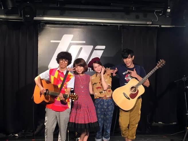 兩團昨彩排練唱,首次合作默契十足。(雅慕斯娛樂提供)