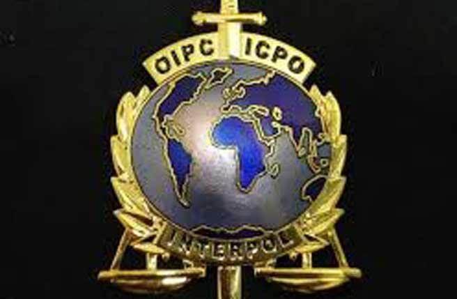 國際刑警組織標誌。(圖摘自網路)
