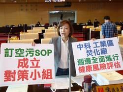 中市淪空汙城市 議員陳淑華要求市府建SOP
