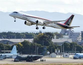 日首架國產噴射客機 名古屋試飛成功