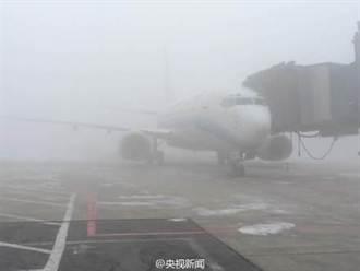哈爾濱霧霾爆表 韓客機折返