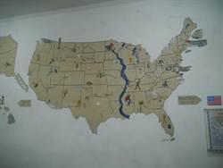 保留50年 馬祖營區猶見美軍手繪思鄉地圖