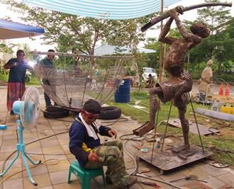 屏東禮納里部落舉辦藝術祭 10名藝術家趕工