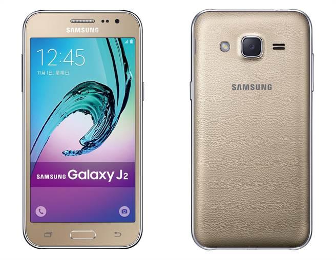 三星Galaxy J2預計將推出頑皮白、玩樂金、潮流黑三色,單機建議售價4280元。(圖/三星)