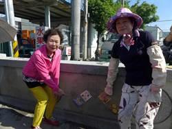 彩繪磁磚裝飾 五光社區延續桂花香