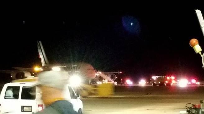 兩架從美國起飛的法國航空(Air France)班機,17日在接獲炸彈威脅的消息後改道,目前乘客安全。(圖取自推特)