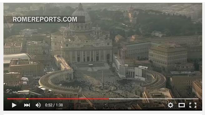 梵蒂岡將於12月8日展開「慈悲聖禧年」活動,並持續到2016年11月20日閉幕,預計將迎來高達2500萬人次天主教徒前來朝聖。(圖截取自YouTube)