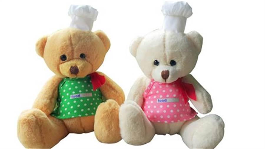 大食代攜手中信基金會 耶誕做公益 每隻Food Republic小廚師熊捐出20元。圖片提供/大食代