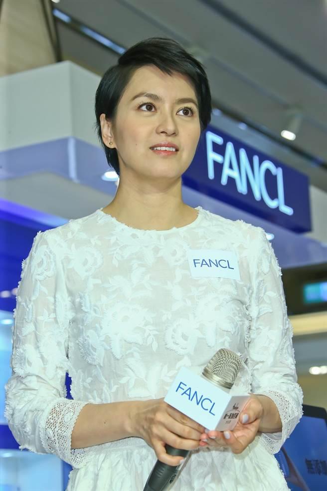 gigi梁詠琪代言FANCL保養品,並當任一日店長。(羅永銘攝)