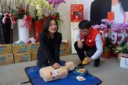 立委參選人馬文君 競選總部設AED