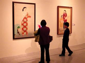 國美館「呂鐵州、許深州膠彩紀念聯展」開幕