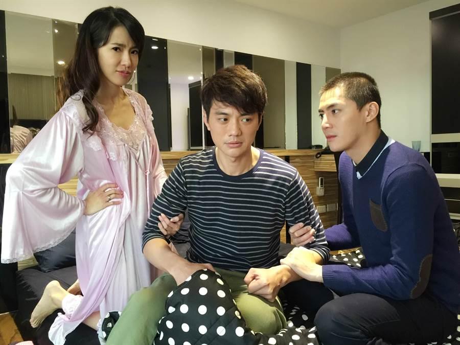 黃瑄、王凱、方大韋演出三角畸戀的戲碼。圖/橞霙經紀工作室提供