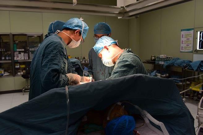 2015年9月8日,湖南張家界人民醫院醫生正為受捐者進行器官移植。