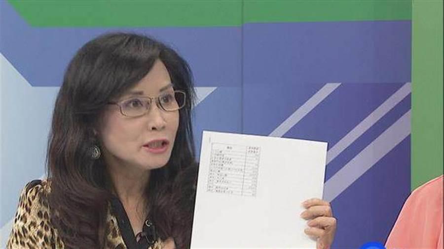 國民黨台北市議員秦慧珠認為台北市過去的基本盤優勢已經失去,此次台北市8席立委席次,國民黨只能坐6望7。(本報系資料照片)
