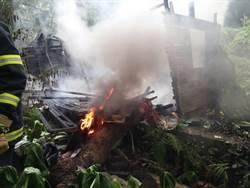 大溪廢棄木造房舍起火 驚見無名焦屍