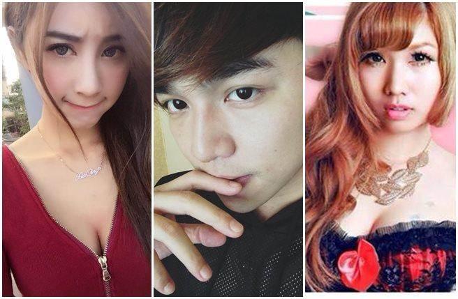 張峰奇陷入劈腿風波,左起現任女友夏晴、張峰奇、Asana。(圖/取自臉書)