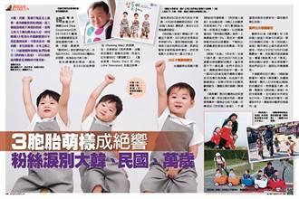 《時報周刊》3胞胎萌樣成絕響 粉絲淚別大韓、民國、萬歲