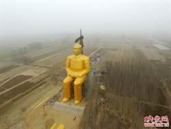 耗資1500萬台幣 河南農民建土豪金毛澤東塑像
