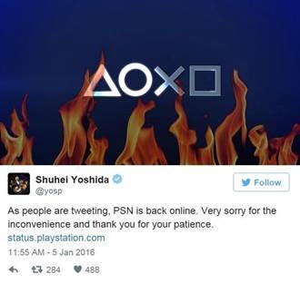 索尼PSN平台當機近12小時 原因調查中