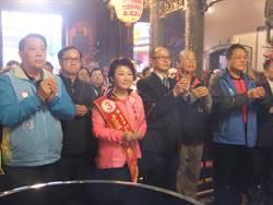 展現「必勝」決心 盧秀燕冒雨掃街