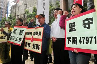 擬開放低薪白領外勞 台灣勞工陣線抗議